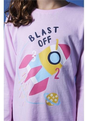 Penti Pembe Kız Çocuk Space Dream 4Lü Pijama Takımı Pembe